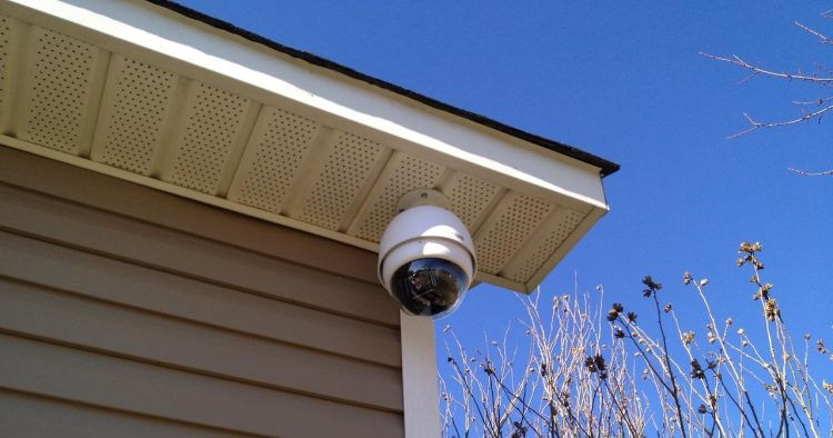 Security Camera to Vinyl Siding